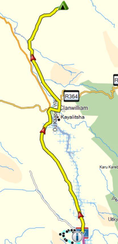 Marcuskraal to Bushmans Cave